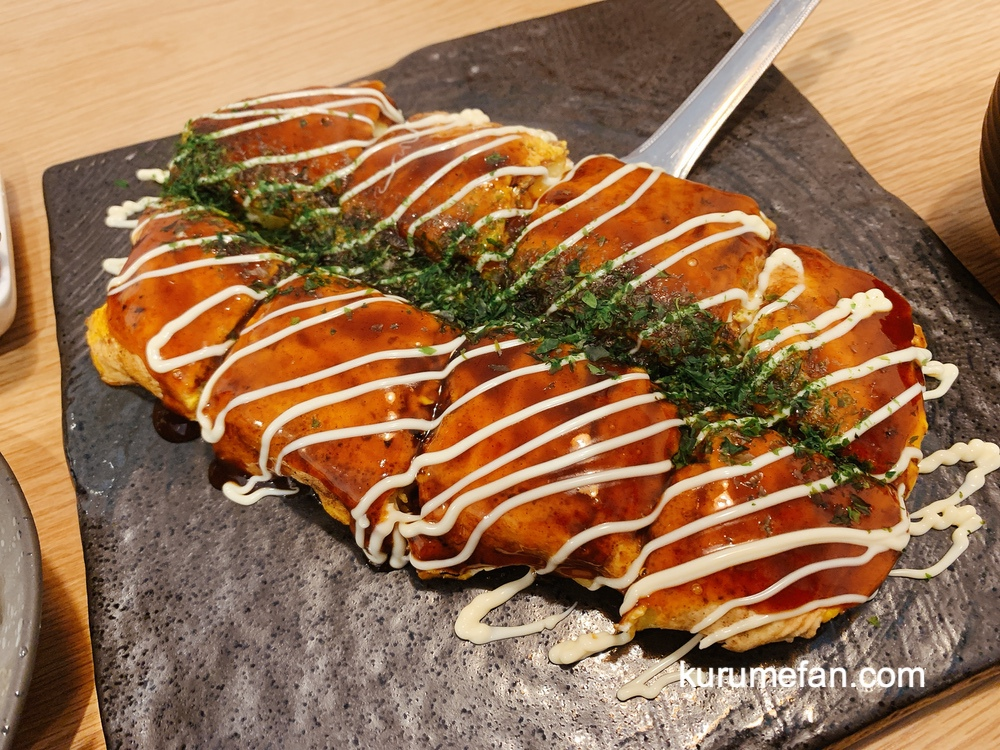 鐵板酒場 晴カスでランチ!フワフワお好み焼き・モダン焼きが美味い【久留米市】