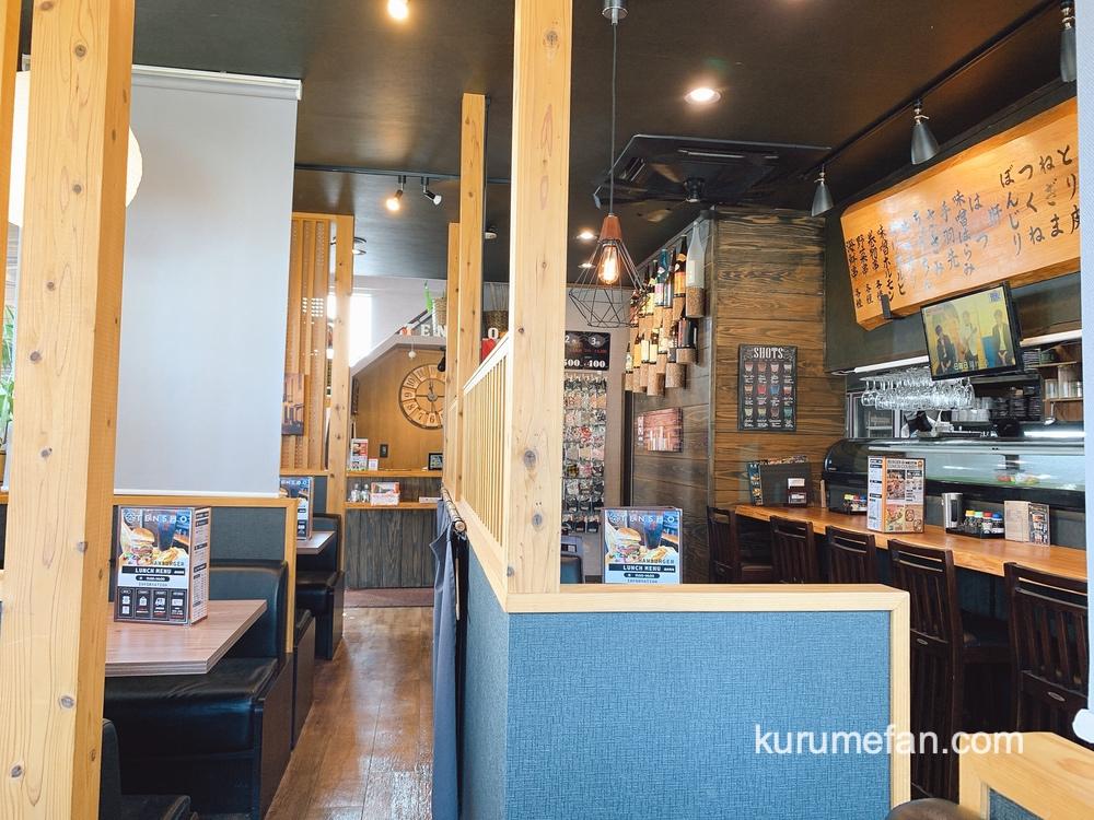 博多やき鳥 天匠(TENSHO)小郡市 おしゃれで清潔感のある店内