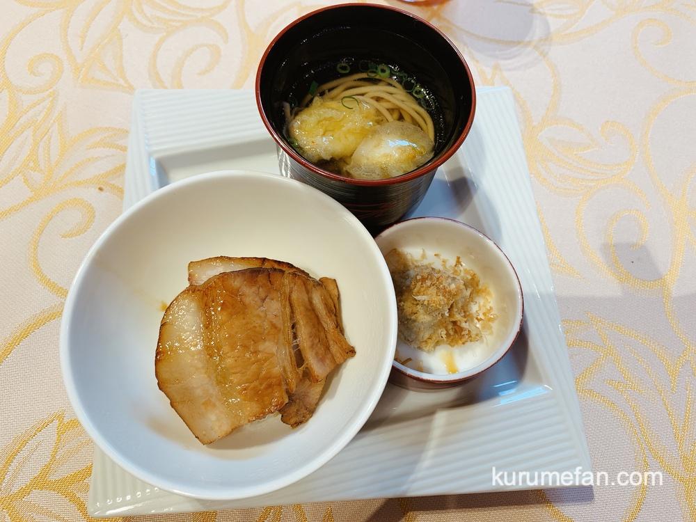 アルカディア久留米 北海道・贅沢コースフェア 北海道 十勝名物 豚丼と新得そば山わさびの醤油づけを添えて