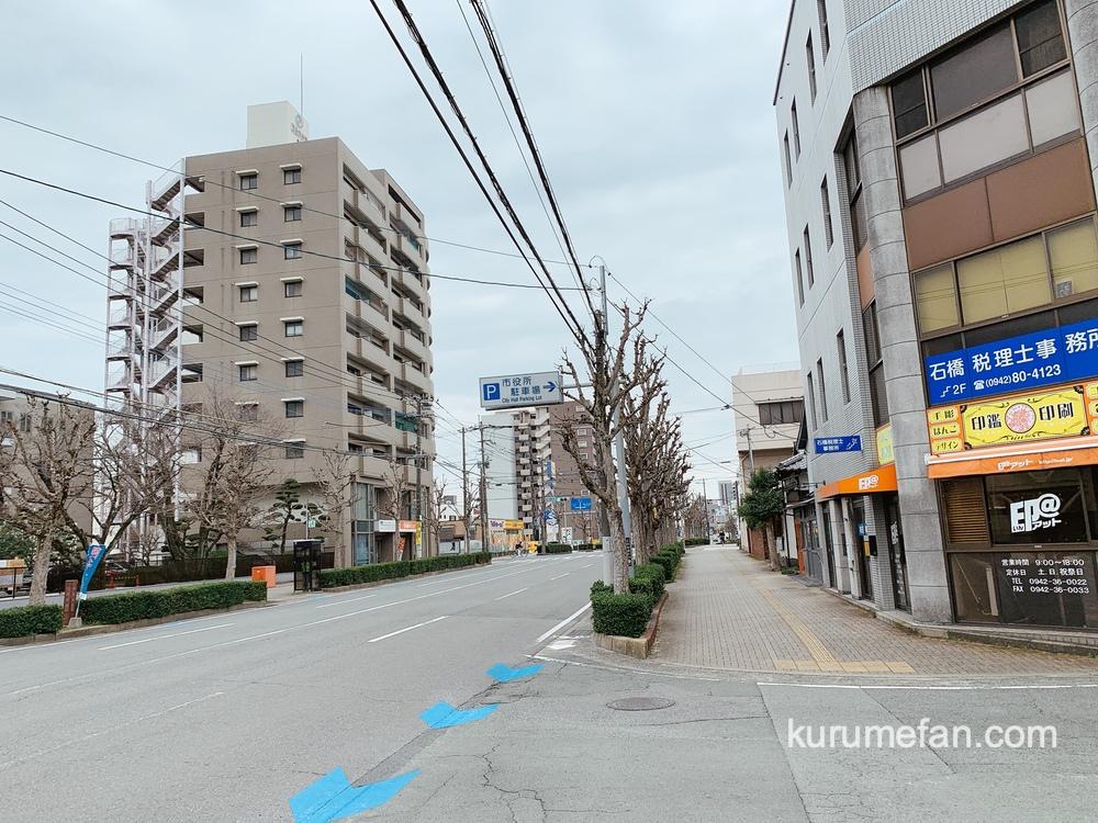 ぷりんのススメ 久留米市役所近く、三本松通り沿い久留米簡易裁判所側