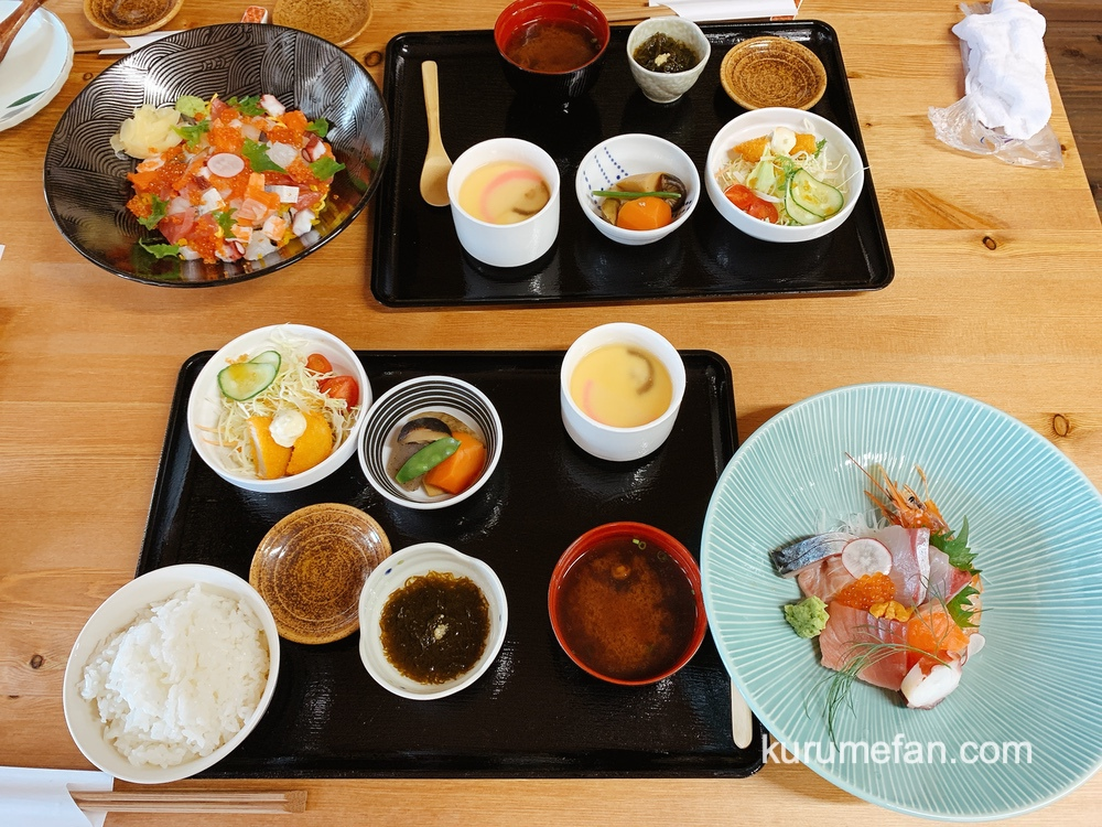 鮨じげん「海鮮ちらし鮨定食」と「鮮魚の刺身定食」