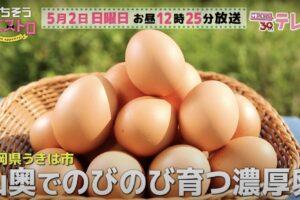 ごちそうマエストロ 福岡県うきは市のブランド卵「山もりたまご」を放送