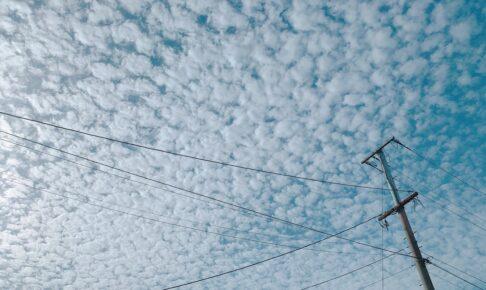今日の久留米市の空が波状雲に!?ナミナミとした雲が出現【5月6日】