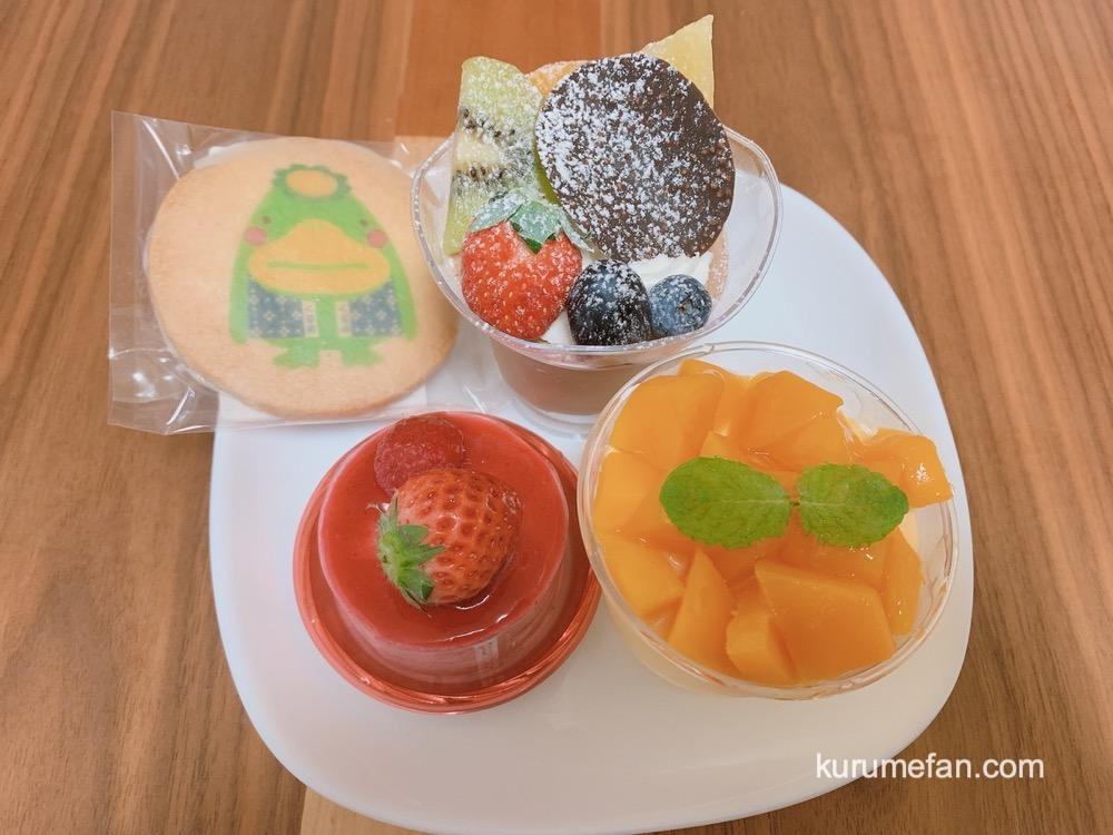 洋菓子工房 ラ・ペ 「城島町マンゴー」、「フランボワーズ」、「ソフィア」のショートケーキ、くるっぱプリントクッキー