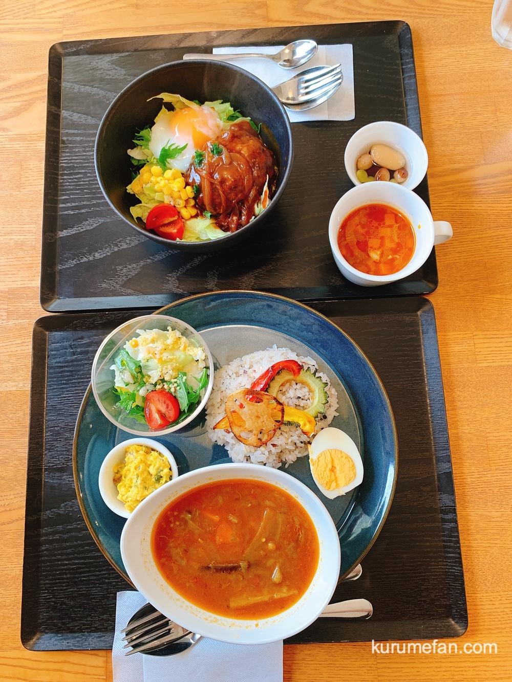 穀物屋 レンズ豆と夏野菜のスープカレーセットとロコモコ丼セットを注文!