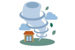 福岡県久留米市など筑後地方に竜巻注意情報 激しい突風に注意