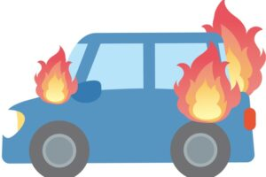久留米市三潴町玉満で車両火災 車が炎上し全焼 子供と母親が病院へ搬送