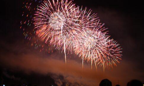 今日 8月25日 小郡市、大刀洗町、北野町の計24箇所で花火打上