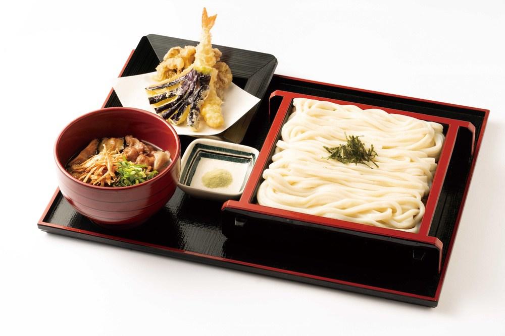資さんうどん イベリコ豚のつけうどんミニ天ぷらセット