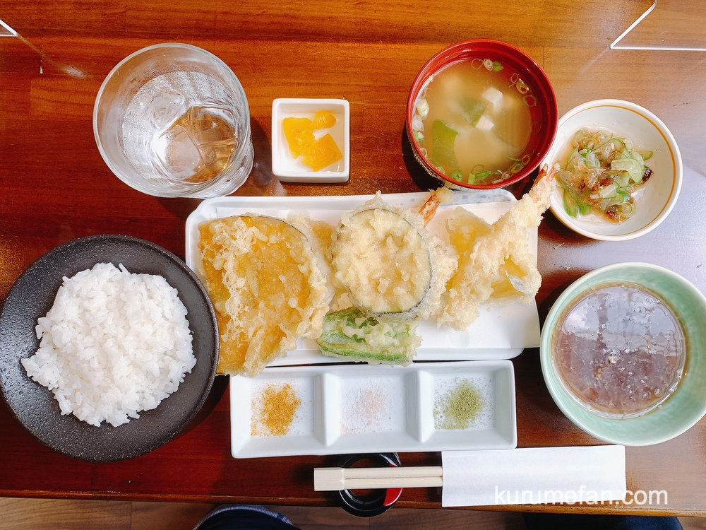 天婦羅 うた川「うた川定食」と「天丼」を注文 天ぷらが美味しい!