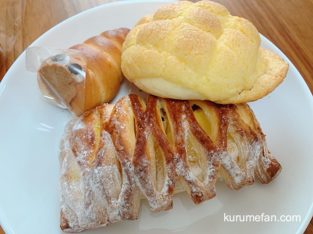 Boulangerie Trefle (ブーランジュリ トレフル)コロネくん、メロンパン、りんごとカスタードのデニッシュ