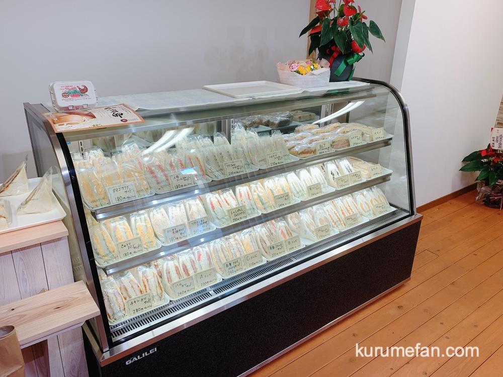 イロハサンド 久留米市 店内 種類豊富なサンドイッチを販売