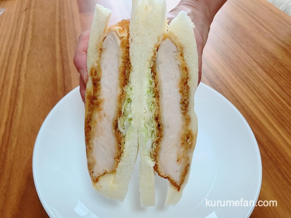 イロハサンド チキンカツサンド 国産鶏むね肉を使用されていて、柔らかくヘルシー