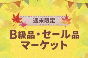 鳥栖プレミアムアウトレット B級品・セール品マーケット 週末限定開催!